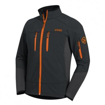UVEX Softshell-Jacke uvex 26 anthrazit/orange